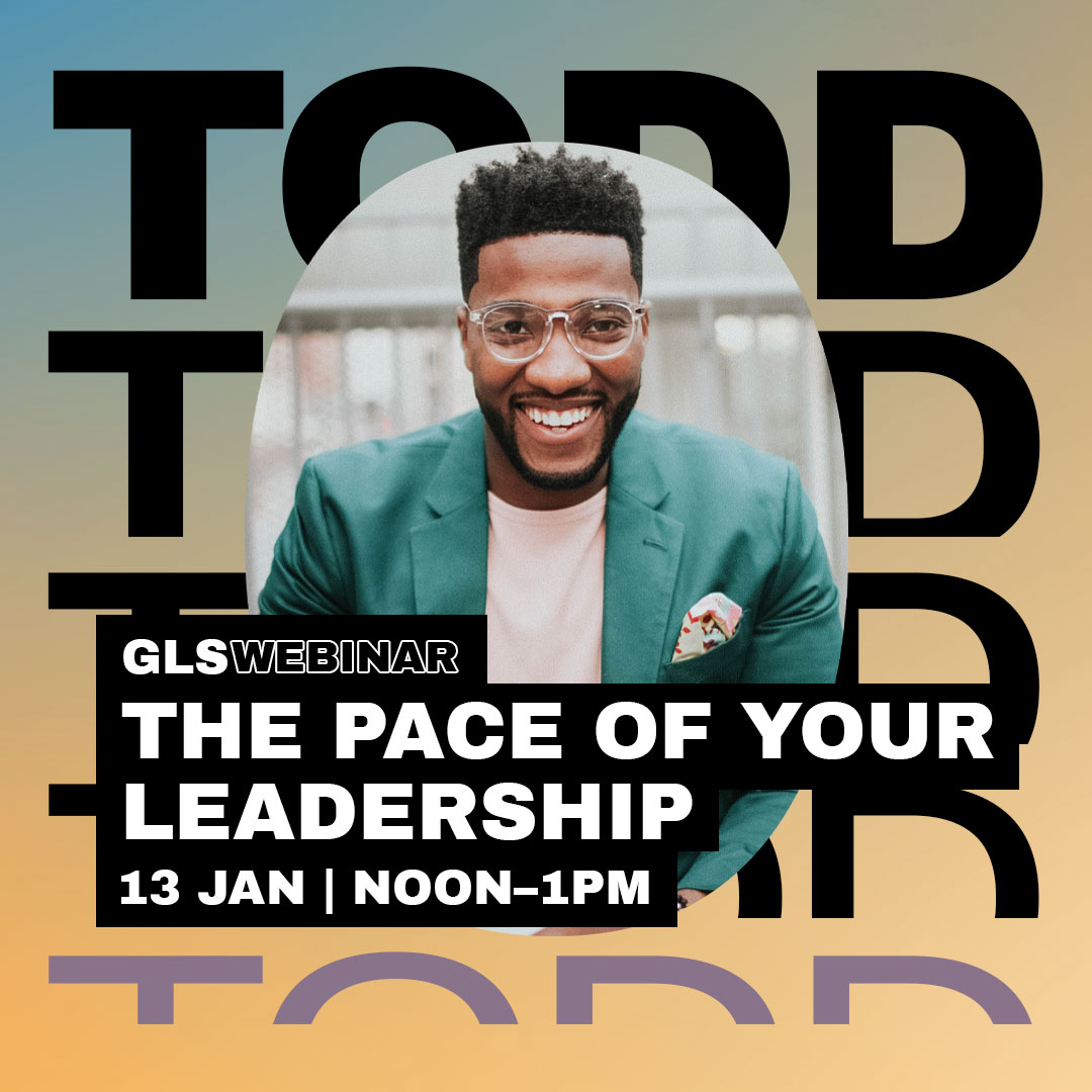 Banner: The Pace of Your Leadership - GLS Webinar