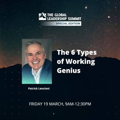 Patrick Lencioni speaking at the GLS Special Edition 19 March 2021